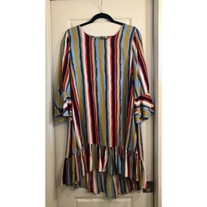 UNCLE FRANK striped tunic dress